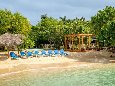Photo for BEACHFRONT VILLA IN JAMAICA, FULLY STAFFED -CORAL COVE