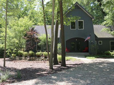Photo for Beautiful home in the woods.  Great for fall weekends!