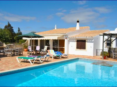 Photo for Luxurious holiday home in the countryside with private pool and sea view