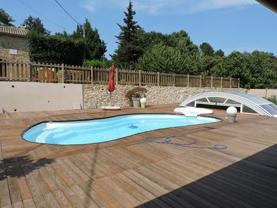 Photo for Mas 6/8 people with swimming pool & jacuzzi. 10 km from the A7 Bollène 40km AVIGNON