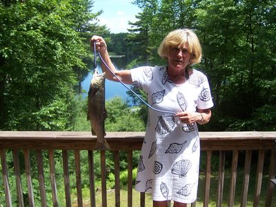 Molly Schwabe, owner and lucky fisherwoman.