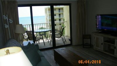 Photo for Beautiful Direct Ocean View, Newly renovated on no drive beach,**Affordable**