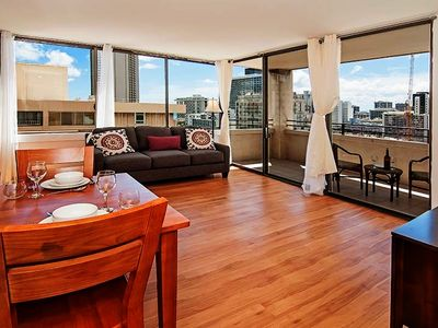 Photo for Gorgeous Mountain Views in the Middle of Modern Waikiki Living