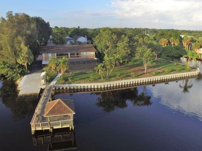 Photo for Private Dock, POOL, boat ramp, 12 memory foam Queen Beds, sleeps 24+