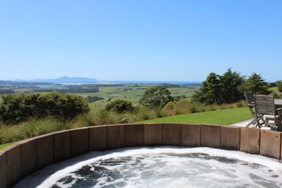 Enjoy the views from the hot tub or star gaze at night