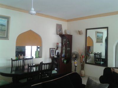 Photo for Homely, nicely furnished two-bedroom two-bath  serviced flat near beach in Kenya