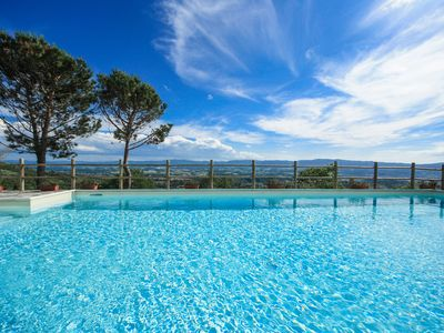 Photo for Top Tuscany apt with pool near Florence In Chianti, WIFI, fenced garden, VIEW