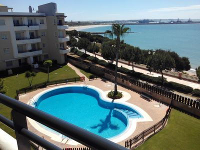 Photo for BEAUTIFUL APARTMENT IN ROTA (CADIZ), SEAVIEW, POOL, INTERNET, air cond.