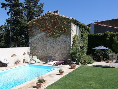 Photo for Country farmhouse for family holidays, pool,  free wifi, close to Carcassonne