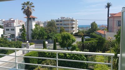 Photo for Very Nice 3 Rooms Modern Pool Parking WIFI at 300 m Beach Golfe Juan