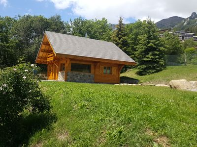 Photo for ETERLOU chalet in solid wood, on the ski slopes, facing south