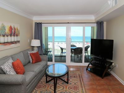 Photo for Castaways 2C ~ Direct Gulf Front Balcony, Right on the Beach ~ Prime Location ~ Walk to town!