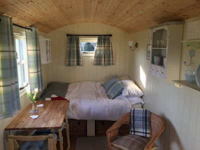 Photo for Shepherd Hut 'Gertrude', near Beccles - warm and cosy, with private shower room