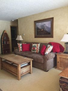 Family Room with Leather Sofa