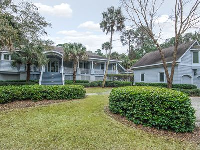 Photo for Wooded View | Multiple Porches | Outdoor Shower | Wifi | 4 BR Kiawah Island Home