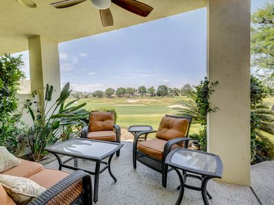 Photo for Updated condo right on the golf course w/ shared pool and hot tub
