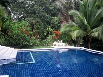 Pool in Tropical Garden Setting