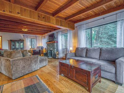 Photo for NEW LISTING! Cozy, secluded cabin w/ fireplace & furnished deck - near village