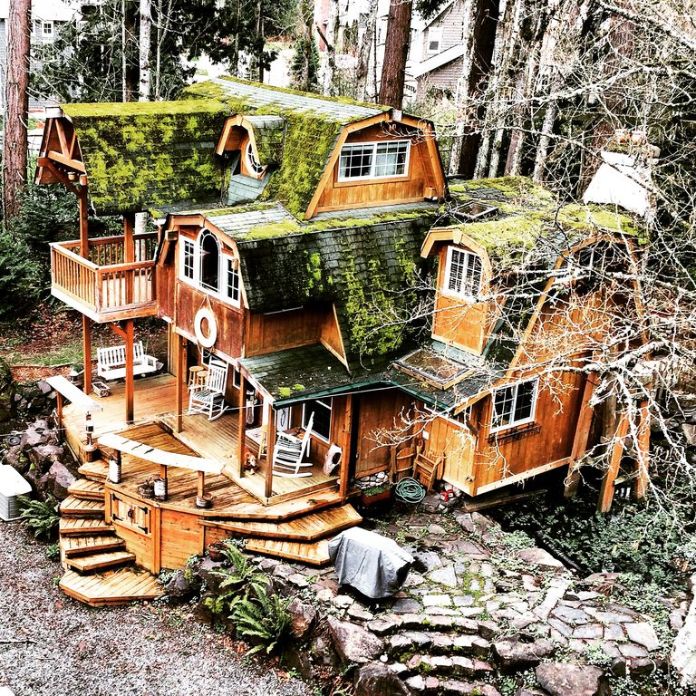 Whimsical Cabin/Cottage With A Treehouse View!, Redmond