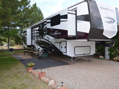 Photo for Outdoor Glamping: Large 5th Wheel Setup OKRV-4A