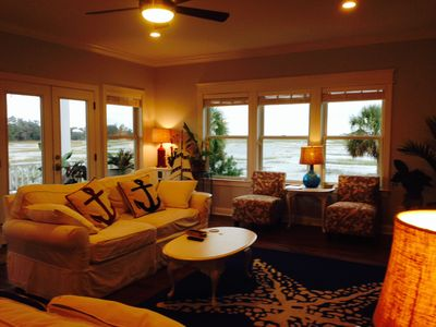 Photo for Perfect Family and Friends Retreat Waterfront Home on Marsh/Tidal Creeks