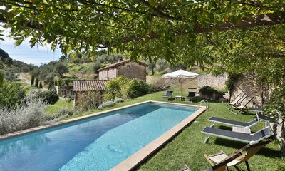 Photo for Private Villa with WIFI, private pool, TV, terrace, panoramic view, parking, close to Lucca
