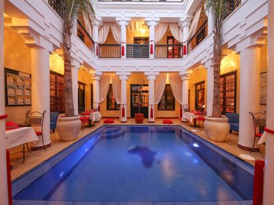 Photo for Very Central Marrakech Riad With 2 Pools, One Heated & Very Friendly Staff