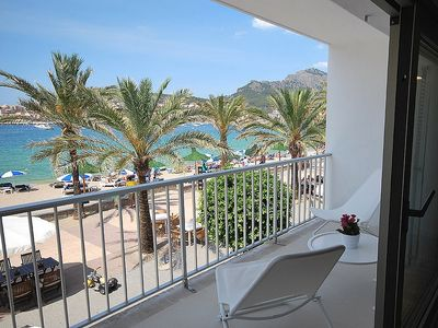 Photo for First Line Family Apartment With Balcony And Sea Views Port Soller