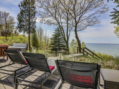 Photo for Modern  Lake Michigan Waterfront Cottage w/Private Beach; Hot Tub; Kayaks & SUPs
