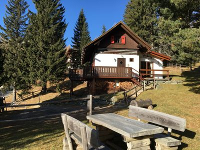 Photo for Cozy alpine lodge for relaxing in the mountains, south facing, a panoramic view