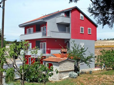 Photo for One bedroom apartment with balcony and sea view Petrčane, Zadar (A-3283-c)
