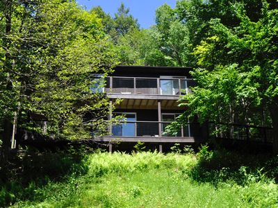Photo for RUSTIC MODERN Like Being in a Tree House! Mtn. Views, WiFi Fireplace WOODSTOCK