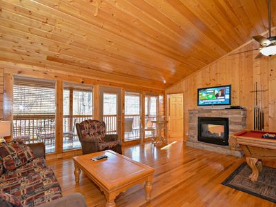 Photo for Moonlight Magic~King BR, Jacuzzi Tub,Hot Tub,Pool Table, Couples or small family, Indoor Heated Pool