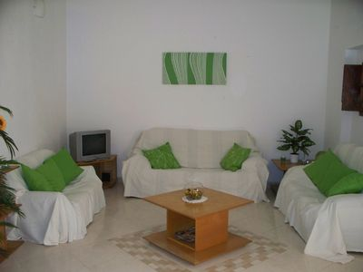 Photo for Fabulous town house with private garden & pool in Oliva old town. Sleeps 10