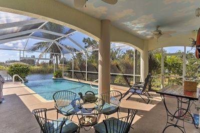 Aside from this outdoor space, the home also boasts 3 bedrooms and 2 baths.