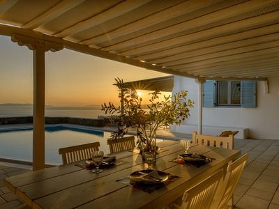 Photo for The Bright Sun of Mykonos Villa Pharus. 5 Bedrooms 4 Bathrooms, Private Pool Up to 11 Guests !