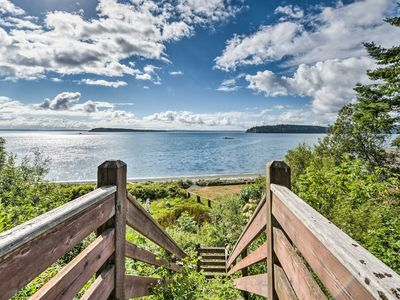 Photo for Waterfront Port Ludlow Home w/Deck & Beach Access!