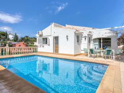 Photo for This 4-bedroom villa for up to 6 guests is located in Denia and has a private swimming pool, air-con