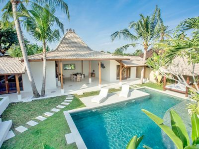 Photo for ❤ $ 100 Canggu | 3BR | STAFF | 12m Pool | Sundeck | PETANQUE AREA | 9 mins BEACH