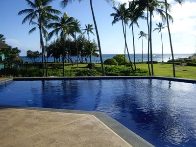 Private gated pool, short walk from lower lanai