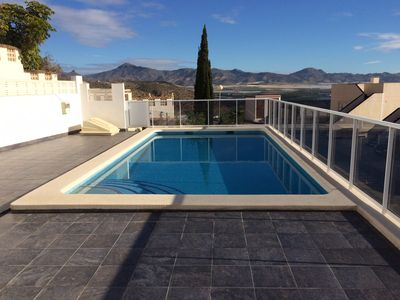 Photo for amazing views + private heated pool ! air con satellite tv and broadband