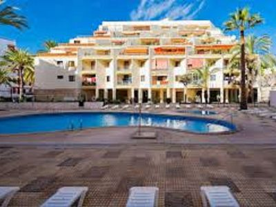 Photo for Apartment with ocean views, pool and free WiFi. 2 min to Los Cristianos beach
