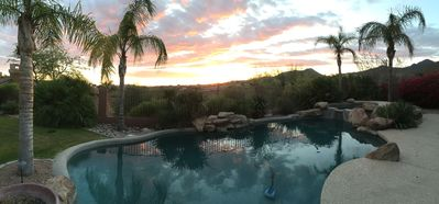 Sunset view from the backyard