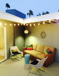 Outdoor seating area for relaxing