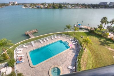 Unobstructed view of swimming area from Balcony
