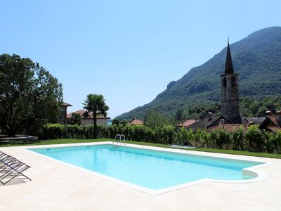 Photo for Oleandro 2 apartment in Mergozzo with pool