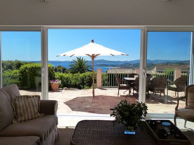 Photo for Villa with beautiful sea view and pool in Les Issambres for 6 people