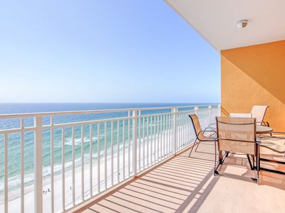 Photo for Waterfront condo with shared hot tub, pool, and balcony