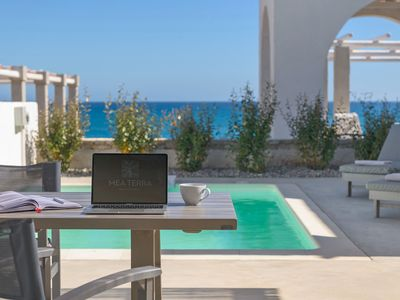 Photo for This 2-bedroom villa for up to 4 guests is located in Lachania / Lahania and has a private swimming