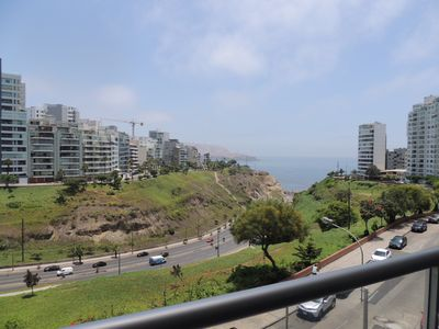 Photo for Ocean View,tv,wi-fi, Balcony, Larcomar Mall And Beautiful Parks Around.